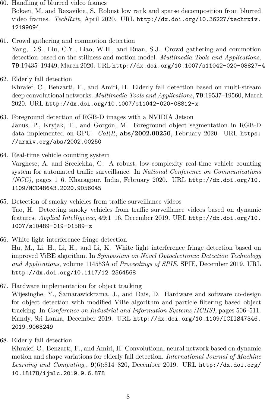 Scientific articles describing applications that use/implement